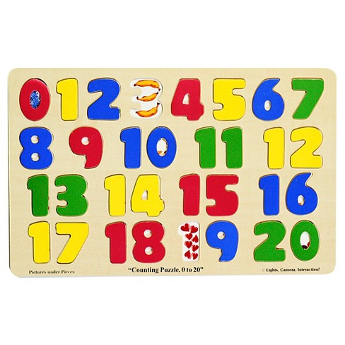 Melissa & Doug® Numbers 0-20 Wooden Puzzle (21pc) 32pc - image 1 of 2
