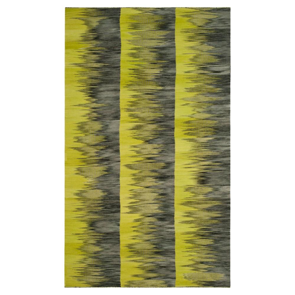 Green/Charcoal (Green/Grey) Abstract Woven Area Rug - (5'X8') - Safavieh