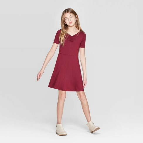 Girls' Cinched Front Dress - art class™ - image 1 of 3