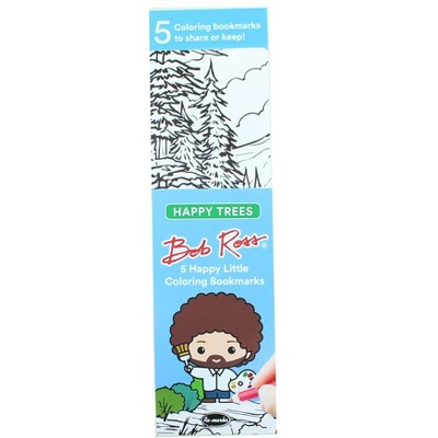 Re-marks, Inc. Bob Ross Happy Trees DIY Coloring Bookmarks | Set of 5