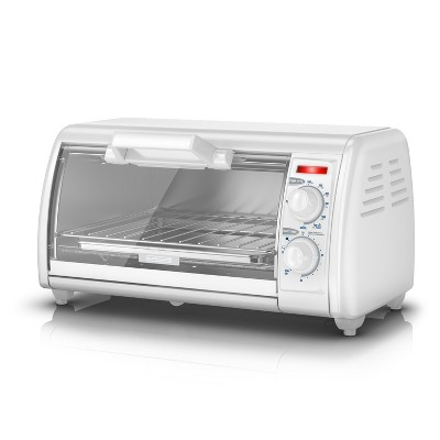 BLACK+DECKER 4-Slice Toaster Oven - Stainless Steel TRO420