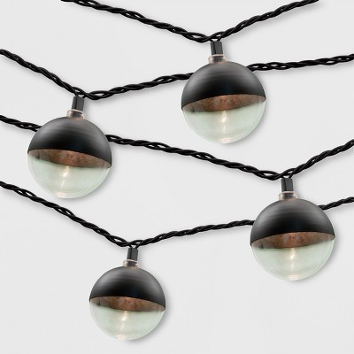 10ct Outdoor String Lights Black Cap - Project 62™