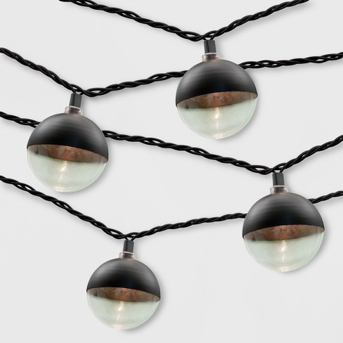 10ct Outdoor String Lights Black Cap - Project 62™ - image 1 of 1