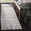 "2'3""X12' Loomed Floral Runner Rug Ivory - Safavieh - image 4 of 4"