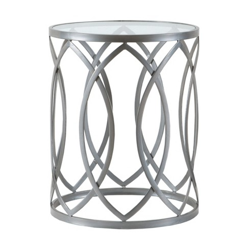 Gaige Metal Eyelet Accent Table - Pewter - image 1 of 3