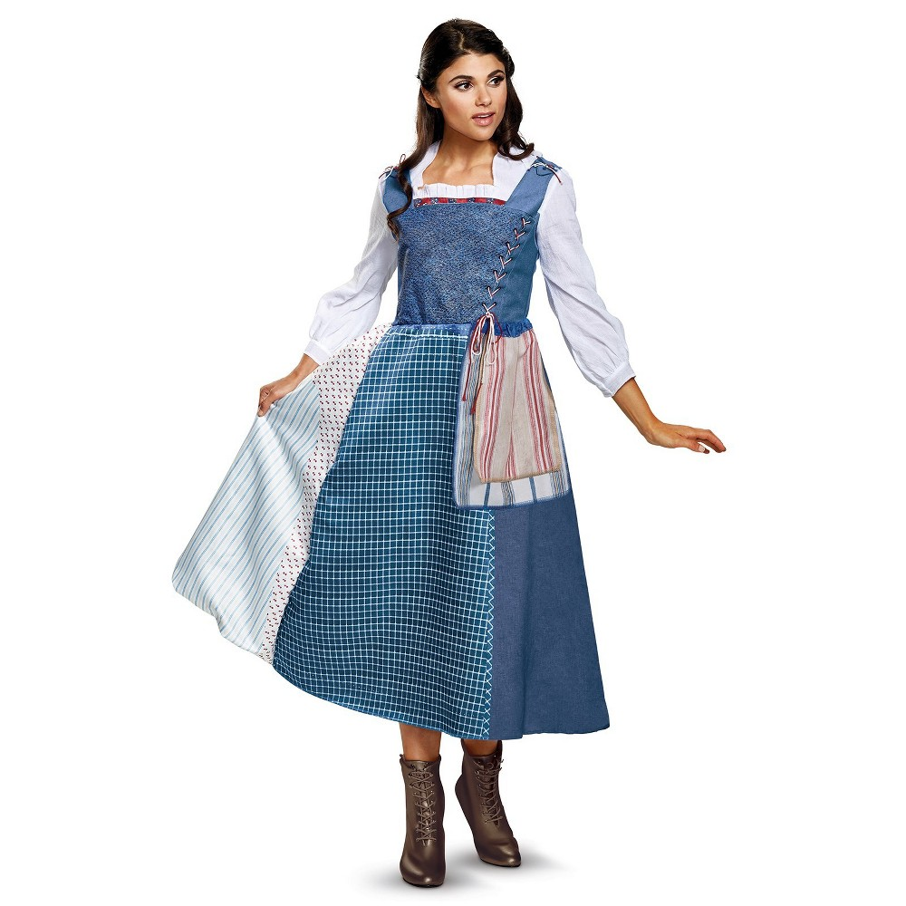 Women's Disney's Beauty and the Beast Belle Village Dress Halloween Costume M, Blue