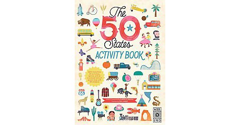 50 States Activity Book : With More Than 20 Activities, a Fold-out Map Poster, and 50 Stickers! - image 1 of 1