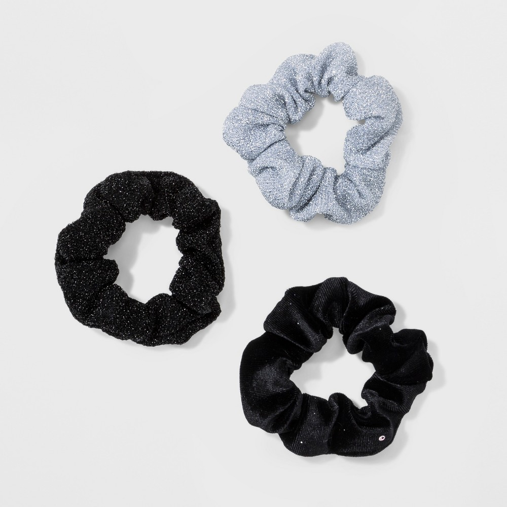 Twister, Velvet Sparkle, Metallic Knit 3ct - Wild Fable Black