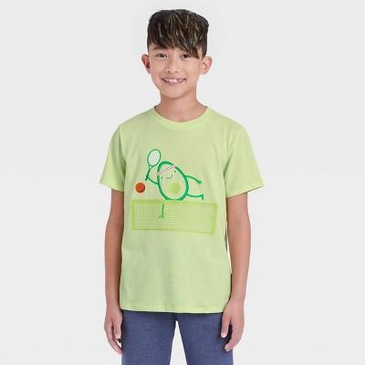 Boys' Avocado Tennis Player Graphic Short Sleeve T-Shirt - Cat & Jack™ Lime Green