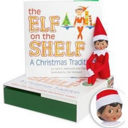 The Elf on the Shelf: A Christmas Tradition with Dark Skin Tone Girl Scout Elf