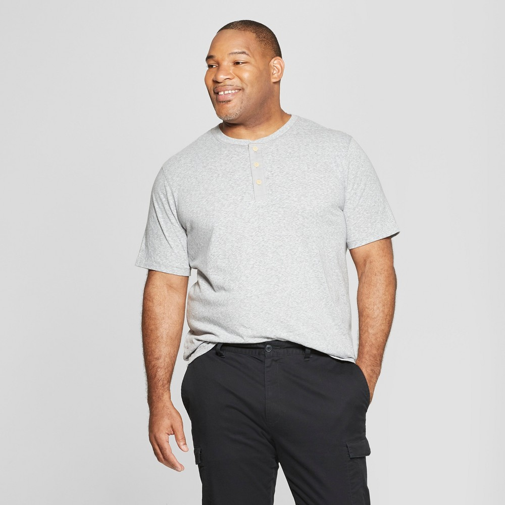 Men's Big & Tall Short Sleeve Henley - Goodfellow & Co Gray 3XB