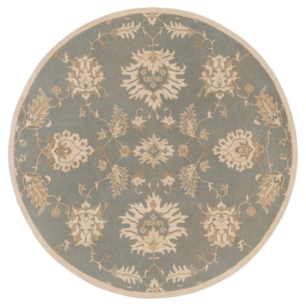 Hablum Area Rug - Medium Gray, Khaki - (4' Round) - Surya
