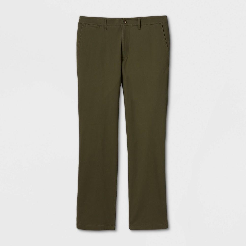 Men 39 S Big 38 Tall Straight Fit Chino Pants Goodfellow 38 Co 8482 Green 46x32