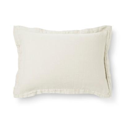 Sour Cream Linen Pillow Sham (King)- Fieldcrest®