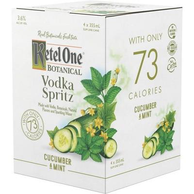 Ketel One Botanical Cucumber & Mint Vodka Spritz - 4pk/355ml Cans