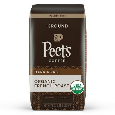 Peet's Organic French Dark Roast Ground Coffee - 18oz