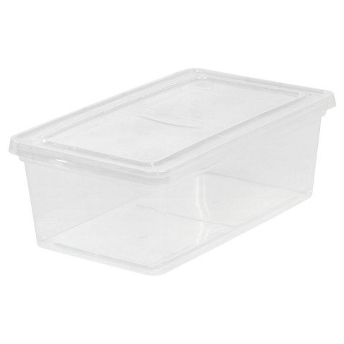 IRIS 6 Qt. Clear Plastic Storage Bins - 12pk - image 1 of 5