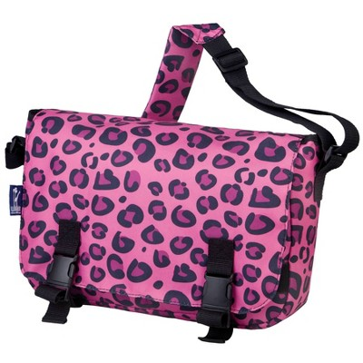 Wildkin Leopard Messenger Bag - Pink