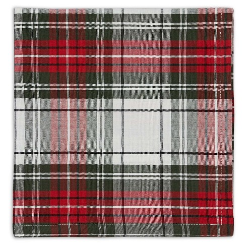 "Green Christmas Plaid Napkin (Set Of 6) (20""X20"") - Design Imports - image 1 of 1"