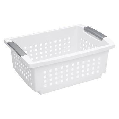 Sterilite Medium Storage Basket - White - Room Essentials™