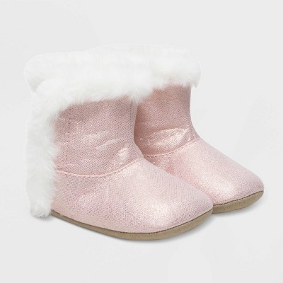 Baby Girls' Ro+Me by Robeez Fur Boots - Pink