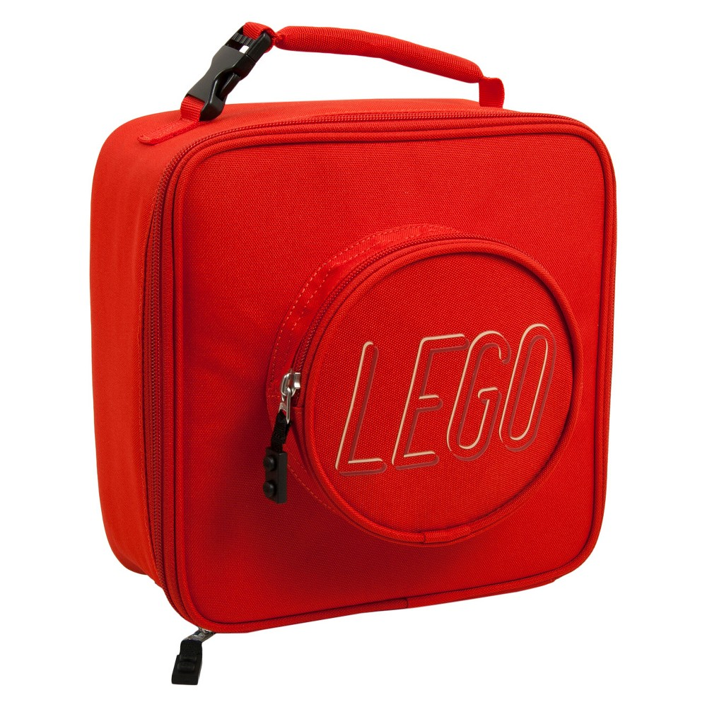 Image of Lego Brick Eco Lunch Bag Backpack - Red