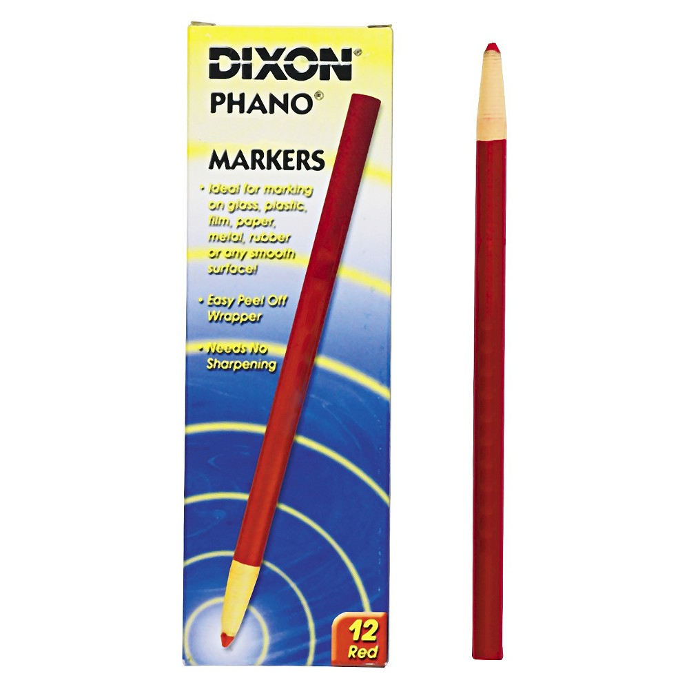 Image of Dixon 12ct China Marker - Red
