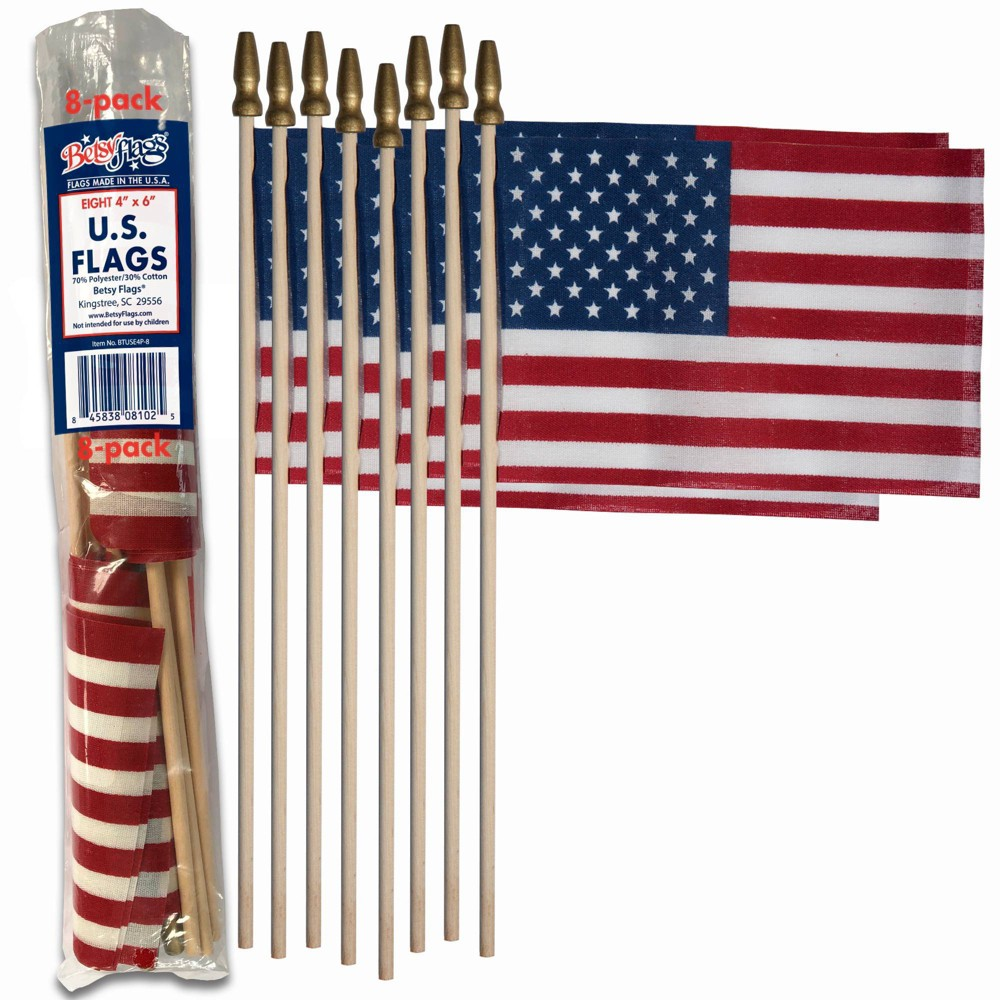"Image of ""4""""x6"""" 8pc Stick Flags"""