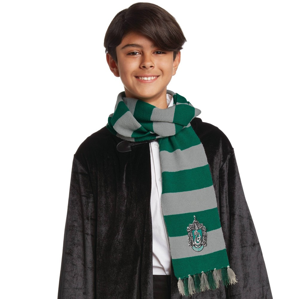 Image of Halloween Harry Potter Slytherin Halloween Costume Scarf, Adult Unisex, Green