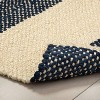 Jute Stripe Rug with Fringe Navy - Hearth & Hand™ with Magnolia - image 3 of 3
