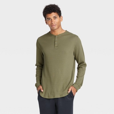 Men's Waffle-Knit Long Sleeve T-Shirt - All in Motion™