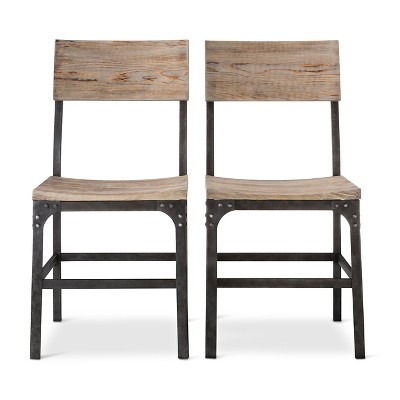 Franklin Wood Seat Dining Chair (Set of 2)-Weathered Gray - Threshold™