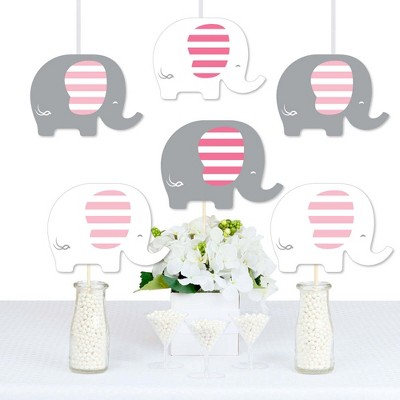 Big Dot of Happiness Pink Elephant - Decorations DIY Girl Baby Shower or Birthday Party Essentials - Set of 20