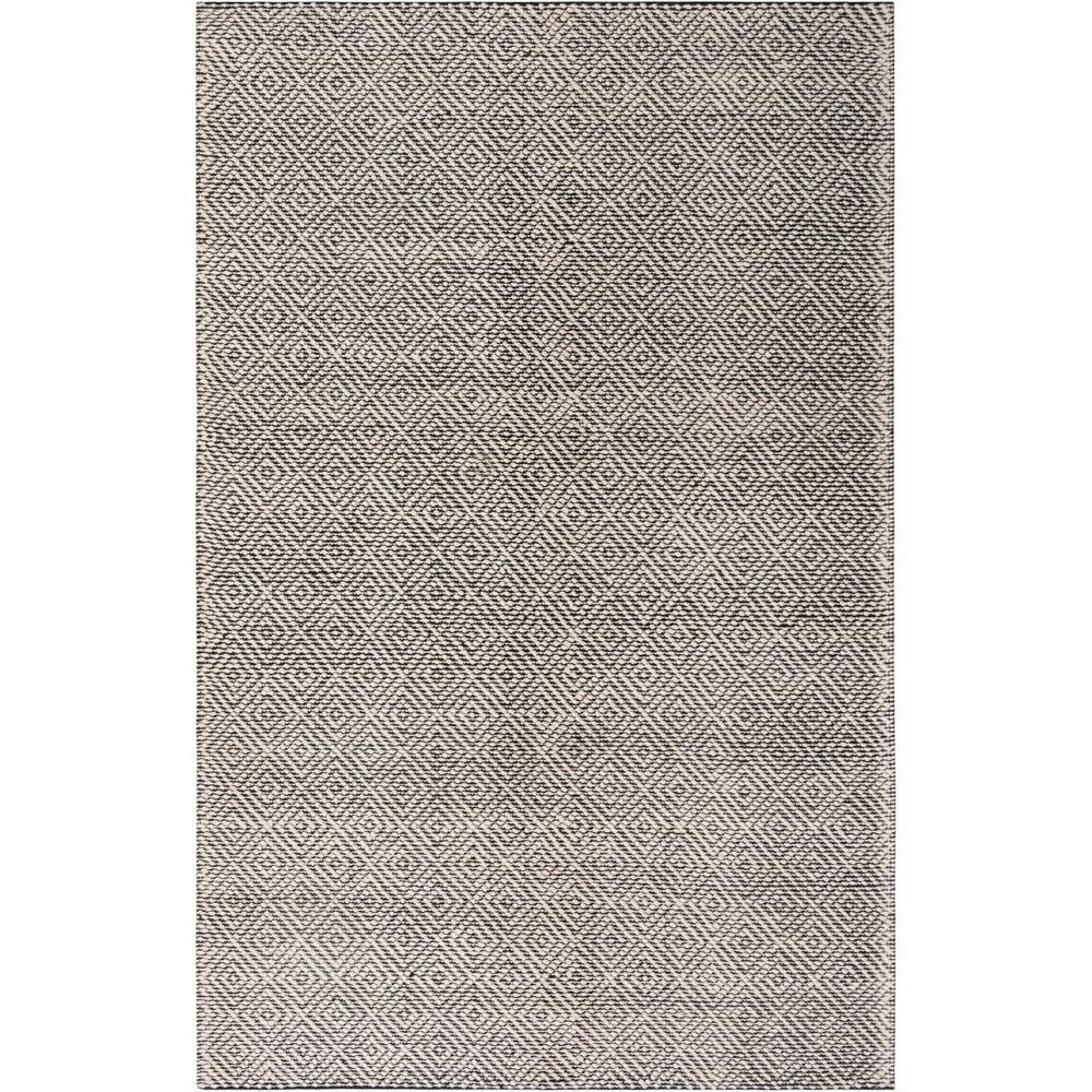 6'X9' Geometric Woven Area Rug Ivory/Black - Safavieh, White