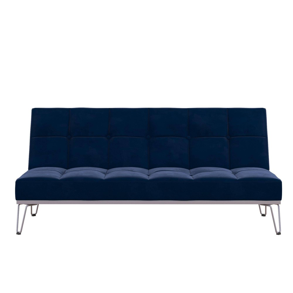 Image of Elle Convertible Sofa Bed and Couch Blue - Novogratz