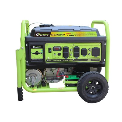 Green-Power 12000w/9500w Dual Fuel Gas/Propane Powered GN12000DEW Portable Generator