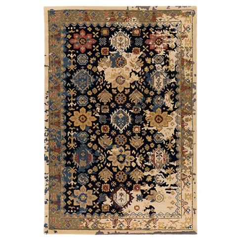 Camel Abstract Tufted Area Rug - (4'x6') - Surya - image 1 of 3