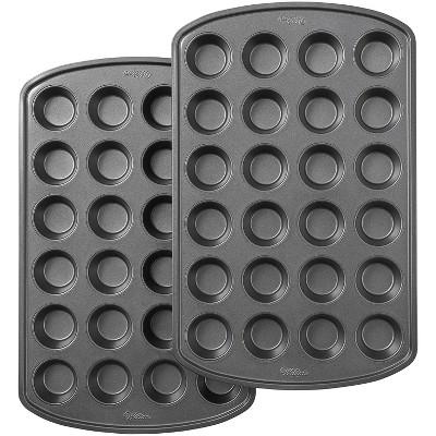 Wilton 2pc 24 Cup Perfect Results Premium Non-Stick Bakeware Mini Muffin Pan Set