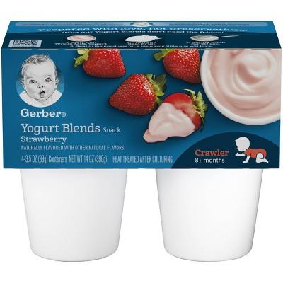 Gerber Crawler 4pk Strawberry Yogurt Blends - 14oz