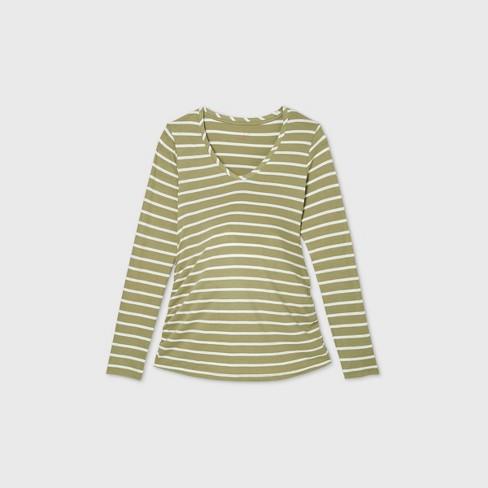 Long Sleeve Scoop Neck Side Shirred Maternity T-Shirt - Isabel Maternity by Ingrid & Isabel™ - image 1 of 1