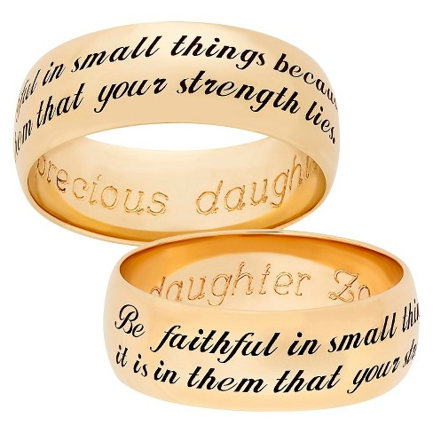 Sweet Sentiments Be Faithful Band in Gold Over Sterling Silver - Gold - image 1 of 1