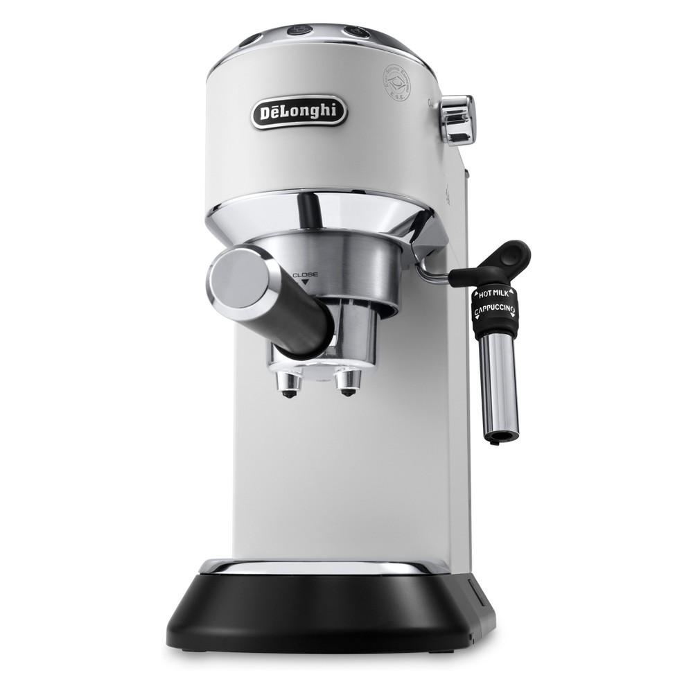 Image of De'Longhi Dedica Deluxe Pump Espresso Machine - White EC685W
