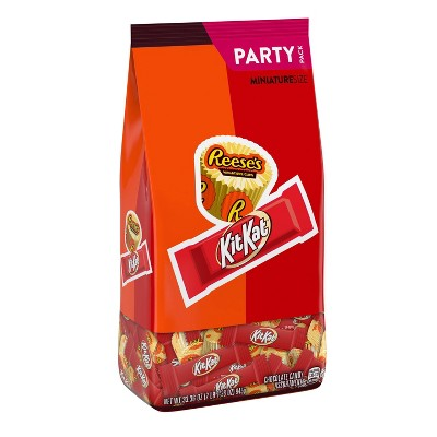 Reese's and Kit Kat Assortment Chocolate Candy Variety Pack - 33.36oz
