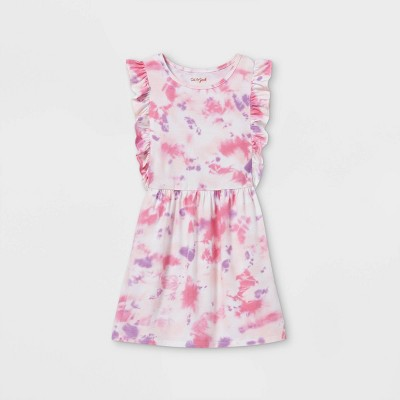 Girls' Tie-Dye Flutter Sleeve Knit Dress - Cat & Jack™