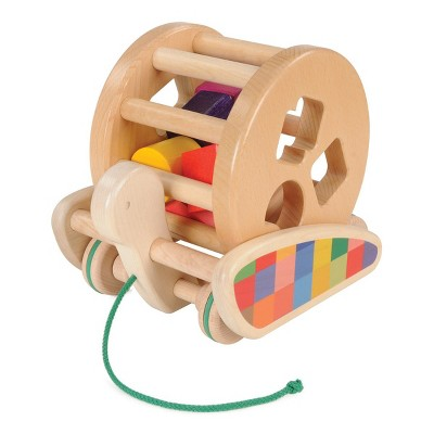 Little Poland Gallery Snail Sort-Roller Wooden Pull Toy and Sorter All-In-One
