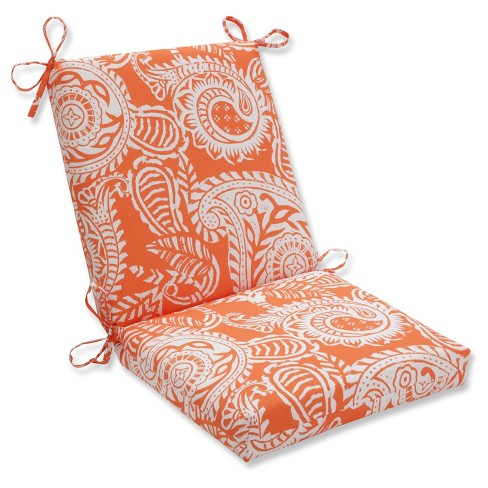 Outdoor Indoor Addie Terra Cotta Squared Corners Chair Cushion Pillow Perfect
