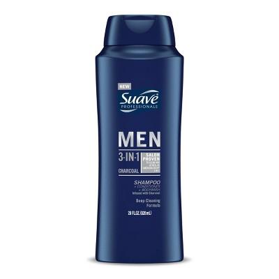 Suave Professionals MEN Charcoal 3-in-1 Shampoo + Conditioner + Body Wash - 28 fl oz