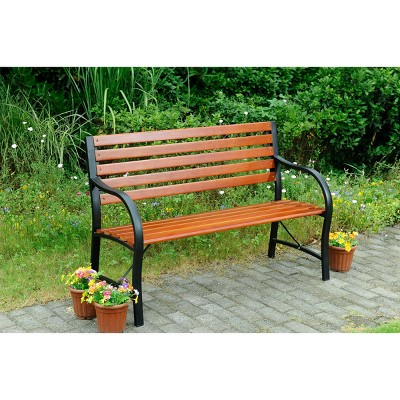 Steel and Wood Bench - Sunjoy