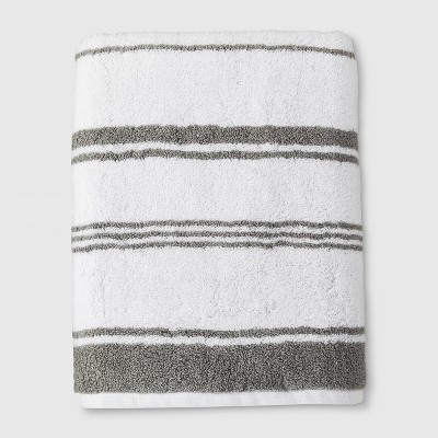 Performance Bath Towel Gray Stripe - Threshold™