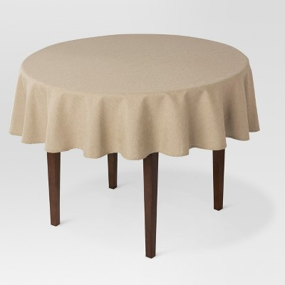 70 R Solid Tablecloth Tan - Threshold™